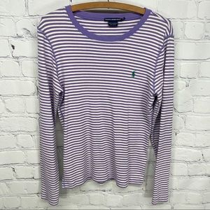 Ralph Lauren Sport long sleeve striped shirt